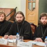 Иеромонах Лев (Скляров), иерей Александр Ильюхов, диакон Георгий Пигарь