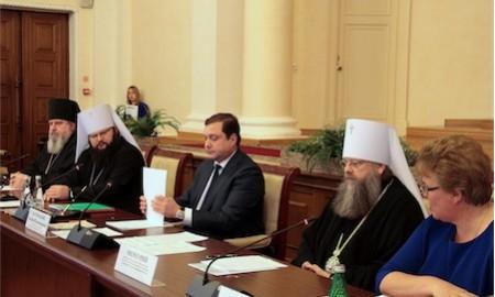 Митрополит Меркурий принастие в заседании Координационного совета Смоленской области