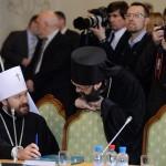 Митрополит Иларион (Алфеев), игумен Митрофан (Шкурин)