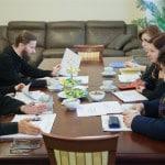Игумен Митрофан (Шкурин), протоиерей Александр Прытков, иеромонах Геннадий (Войтишко), Валентина Сигаева