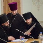 Игумен Митрофан (Шкурин), протоиерей Александр (Прытков), иеромонах Геннадий (Войтишко)