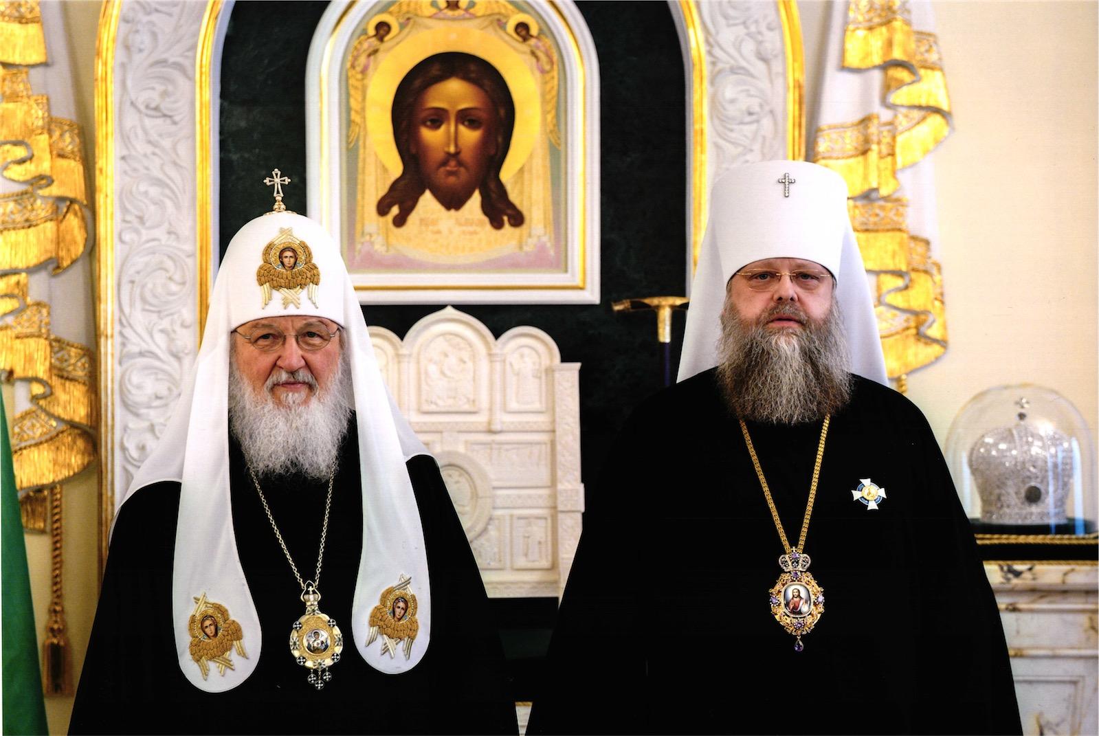 Святейший Патриарх Кирилл, митрополит Ростовский и Новочеркасский Меркурий